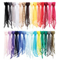 "Plain Chiffon Scarves | Chiffon Shawl | Long 21"" x 60"" Many Colors- Bulk 2129C"