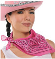 Pink Cowgirl Costume Bandana 1917C