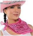 Pink Cowgirl Costume Bandana 1917 12 PACK