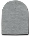 Short Beanie Light Grey Cap Hat 5737