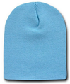 Beanie Short Light Blue Hat Cap 5738