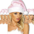 Pink Bulk Santa Hats 12 PK 1438D