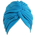 Light Blue Turban Head Cover Hat 5979
