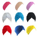 Turban Mixed Color Head Cover Hat 5973-5979