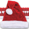 Santa Hat Plush Adult Bulk 1443D 12 PACK