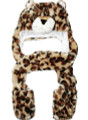 Animal Hat Leopard with Mittens 5504