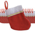 "Christmas Stockings Mini Knit 5"" 6PC Set Bulk 9223C"