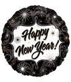 New Years Balloons Black/Silver 3891