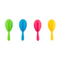 5 Inch -  Plastic Neon Maracas Kids Cinco De Mayo (12 PACK) Mixed Colors 1765A
