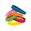 Inspirational Bracelets Bulk (6 Sayings) 24 Packs 9908
