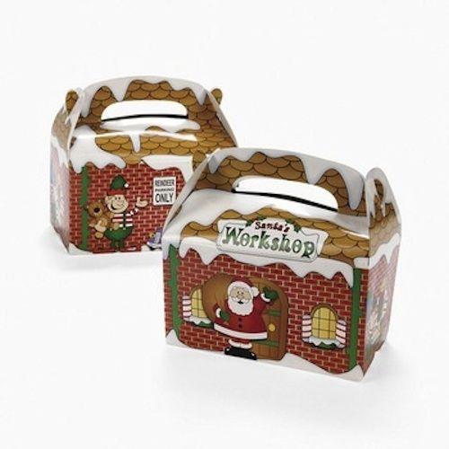 Christmas Gift Boxes Wholesale.Santa S Workshop Treat Boxes Santas Gift Boxes Bulk 12 Pack 3916d