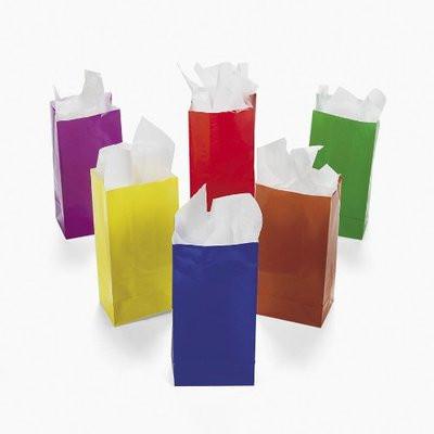 Neon Gift Bags Small Bulk 12 Pk 3900d