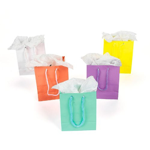 Small Pastel Gift Bags 12 Pk 3920d