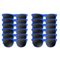 Royal Blue Vintage 80 Style Sunglasses Adult 12 PACK WS1076D
