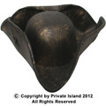 Brown Caribbean Tricorn Pirate Hat  12 PACK WS1507D