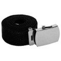 "Black Canvas Adjustable Belt 12 PACK Adjusts to 44-46"" Size WS2210D"