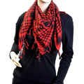 12 PK Black And Red Arab Shemagh Houndstooth Scarf 12 PK WS2080D