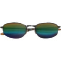 Sports Sunglasses Fishing Metal Silver Half Frame/Rainbow Lens  12 PACK WS1118D