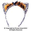 Leopard Ears Headband 12 PACK WS1722D