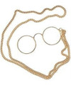 Pince Nez  Bulk Glasses w/ Chain 12 PACK WS1197D
