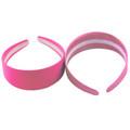 80's Neon Pink Satin Headband 12 PACK WS6668D