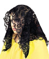 Spanish Mantilla Black  12 PACK WS1497D