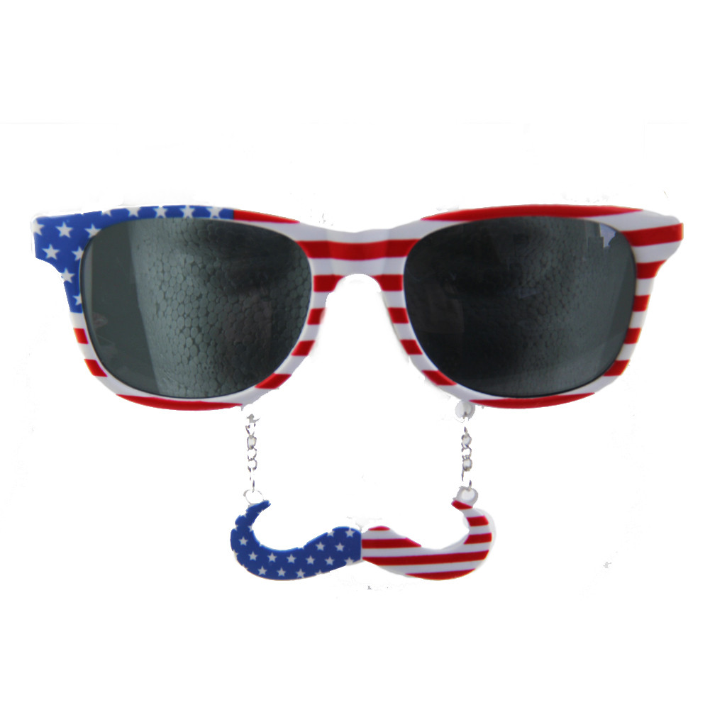 253ba9b3be USA Mustache Sunglasses