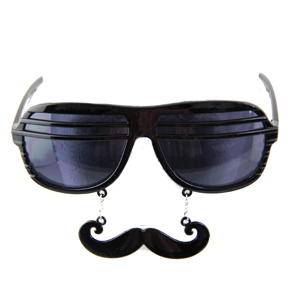 1afc881816 Black Mustache Shutter Shades Sunglasses 7403. -. Image 1