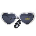 White Child Lolita Heart Shape Sunglasses 12PK WS1026