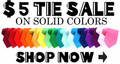 6 Pk Polyester Satin Tie Deal - 12 Pk Polyester Satin Tie Deal - You Pick the Colors - We Ship 950