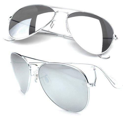 9925920cdc Bulk 12PK Aviator Sunglasses Silver Frame Silver Mirror Lens 1104D. -.  Image 1