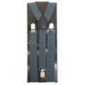 12PK Gray Clip On Elastic Suspenders 1281D