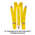 Yellow Suspenders Wholesale Bulk Clip On Elastic 12PK 1287D
