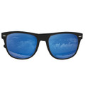 12 PACK Blue Mirror Lens Black Frame Wayfarer Sunglasses 1065D
