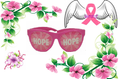 Pink Hope Breast Cancer Awareness Pinhole Sunglasses HP1000