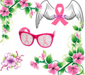 Pink Ribbon Breast Cancer Awareness Pinhole Sunglasses PR1000