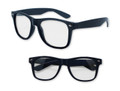 Navy Blue with Clear Lens 80s Styles Sunglasses Adult 10820
