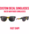 Rasta Sunglasses Customized, For Groom, Customized Bachelor Sunglasses - Weddings, Theme Parties, Bachelor Groom, Wedding Favors (Fonts in Picture Gallery)