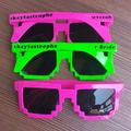 Custom Pixel Sunglasses | Custom 8 Bit Glasses 15053 (Fonts in Picture Gallery)