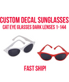 Halloween Cat Glasses Customized | Halloween Sunglasses | 15059