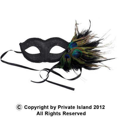 12 PACK Masquerade Venetian Masks Bulk | with Peacock Feathers 1846D