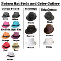 Fedora Hats -Many Different Styles- Sold by Piece 1300P