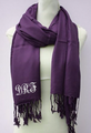 Monogrammed Blanket Scarf | Printed Scarf | Wedding Pashmina | (Fonts in Picture Gallery)