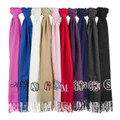 Monogrammed Pashmina | Wedding Shawls |  Bridesmaid Shawls | (Fonts in Picture Gallery)