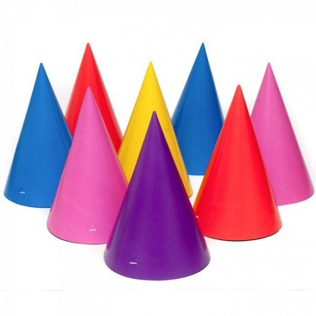party hats birthday party hats child size by 10 color 8pk 19002