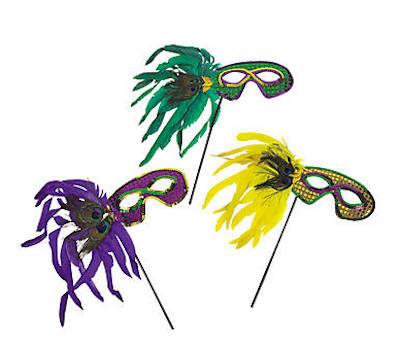 Mardi Gras Stick Masks | DELUXE