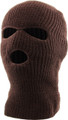 Three Hole Knit Ski Mask 12 PACK  - BROWN 3061B