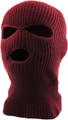 Three Hole Knit Ski Mask 12 PACK  - BURGUNDY 3061BR