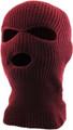 Three Hole Knit Ski Mask  - BURGUNDY 3061BR