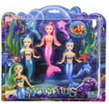 "3 PACK SET MERMAID DOLLS 6"" M2002"
